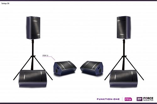 Funktion One - Setup 30 - PSM 12 stage monitor systém